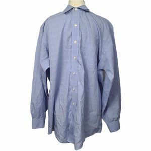 Brooks Brothers Blue White Button Down Long Sleeve Shirt